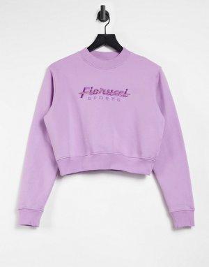 Розовый спортивный укороченный свитшот -Фиолетовый цвет Fiorucci