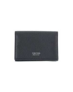 Бумажник TOM FORD. Цвет: темно-синий