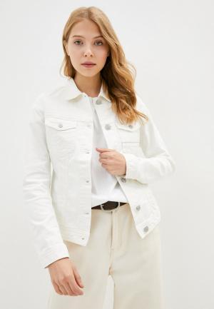 Куртка джинсовая Care Label. Цвет: белый