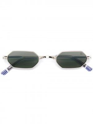 Солнцезащитные очки Bywater Etnia Barcelona. Цвет: серебристый