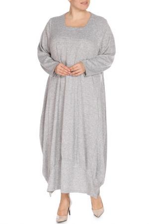 Платье Amazone. Цвет: серый