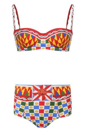 Раздельный купальник Dolce & Gabbana. Цвет: желтый