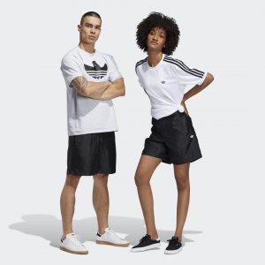 Шорты Satin (Унисекс) Originals adidas. Цвет: черный