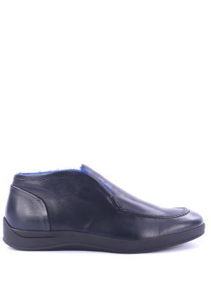 Кожаные полуботинки Flyght Alberto Guardiani. Цвет: синий