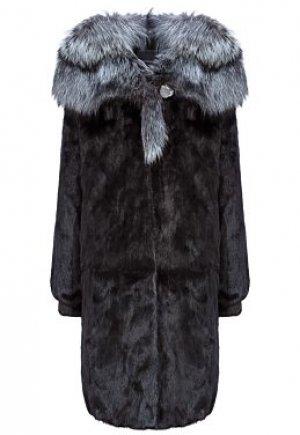 Норковая шуба с отделкой мехом чернобурки Flaumfeder