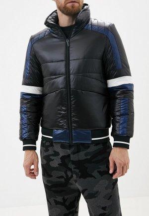 Куртка утепленная Bikkembergs. Цвет: черный