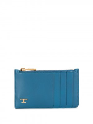 Tods картхолдер с логотипом Tod's. Цвет: синий