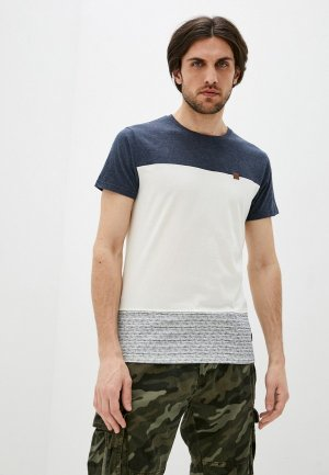 Футболка Indicode Jeans. Цвет: белый