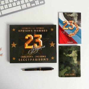 Набор обложка на паспорт, блокнот, ручка ArtFox