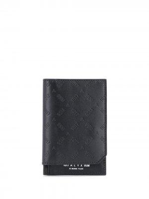 Бумажник с тисненым логотипом 1017 ALYX 9SM. Цвет: черный