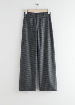Прямые брюки с высокой талией &Other Stories. Цвет: серый