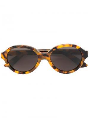 Солнцезащитные очки в круглой оправе Retrosuperfuture. Цвет: коричневый