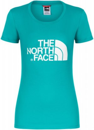 Футболка женская Easy, размер 50-52 The North Face. Цвет: зеленый