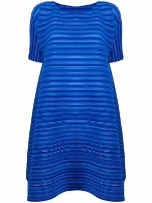 Плиссированное платье-трапеция Pleats Please Issey Miyake. Цвет: синий