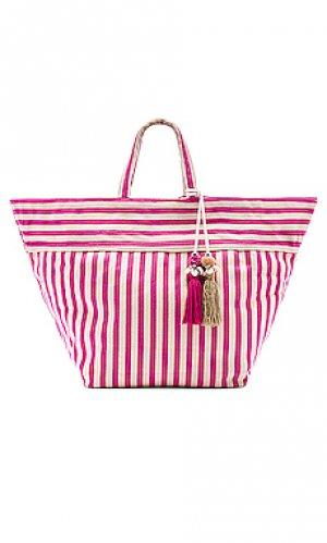 Пляжная сумка valerie large puka JADEtribe. Цвет: розовый