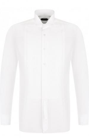 Хлопковая сорочка Tom Ford. Цвет: белый