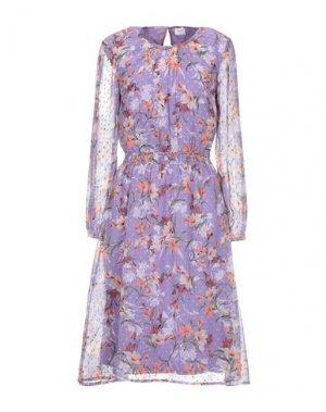 Платье до колена JACQUELINE de YONG. Цвет: сиреневый