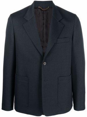 Пиджак прямого кроя Golden Goose. Цвет: синий