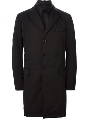 Пальто со съемным жилетом Fay. Цвет: чёрный