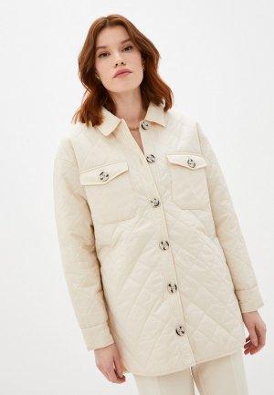 Куртка утепленная Ichi. Цвет: бежевый