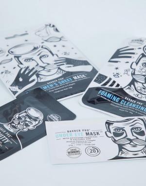 Набор масок для лица с восстанавливающим эффектом -Бесцветный Barber Pro