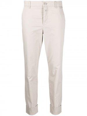 Укороченные брюки чинос Closed. Цвет: нейтральные цвета