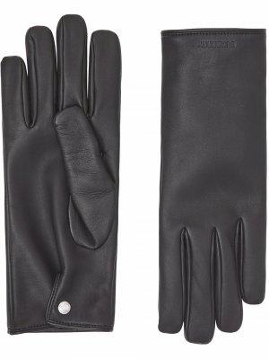 Перчатки с логотипом Burberry. Цвет: черный