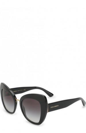 Солнцезащитные очки Dolce & Gabbana. Цвет: чёрный