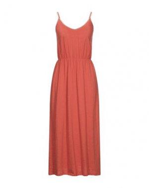 Платье длиной 3/4 GARCIA. Цвет: ржаво-коричневый