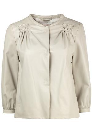 Кожаная куртка DOROTHEE SCHUMACHER. Цвет: серый