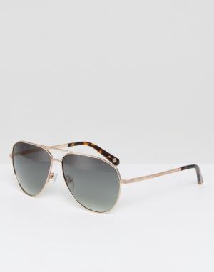 Солнцезащитные очки-авиаторы Reese Ted Baker. Цвет: золотой