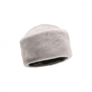 Шапка-кубанка из меха норки Kussenkovv. Цвет: синий