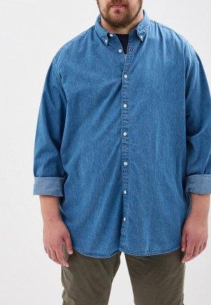 Рубашка джинсовая Jack & Jones. Цвет: синий