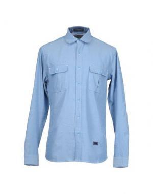 Рубашка с длинными рукавами FRESHJIVE. Цвет: пастельно-синий