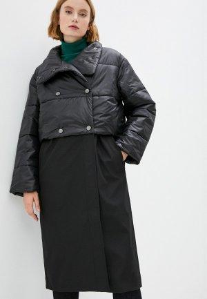 Плащ и куртка утепленная Stillini. Цвет: черный