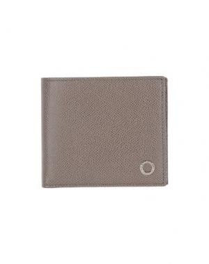 Бумажник BULGARI. Цвет: хаки