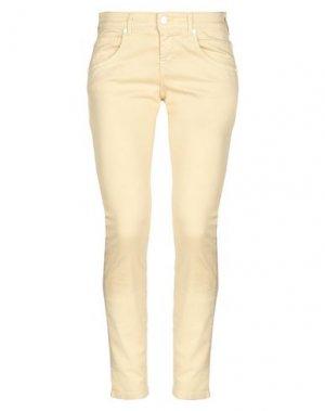 Джинсовые брюки UP ★ JEANS. Цвет: бежевый