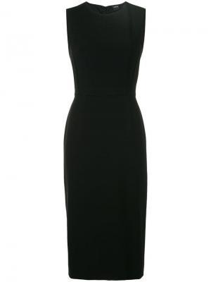 Строгое платье без рукавов Aspesi. Цвет: черный