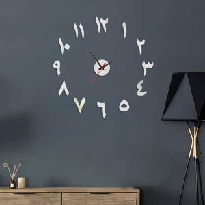 Простые настенные часы с зеркальной поверхностью SHEIN. Цвет: серебряные