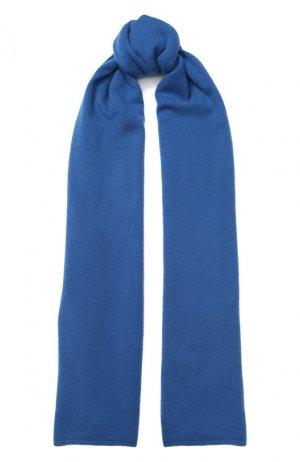 Кашемировый шарф Allude. Цвет: синий