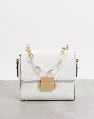 Белая сумка на плечо с ремешком-цепочкой Aldo-Белый ALDO