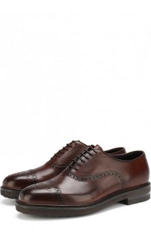 Классические кожаные оксфорды H`D`S`N Baracco. Цвет: коричневый