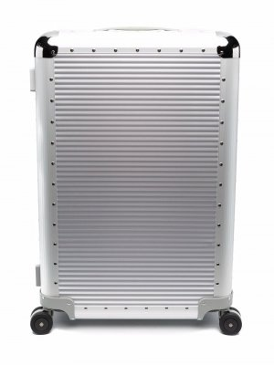 Алюминиевый чемодан Spinner с заклепками (68 см) FPM Milano. Цвет: серебристый