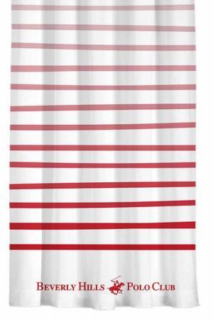 Штора, 140х260 Beverly Hills Polo Club. Цвет: white, red
