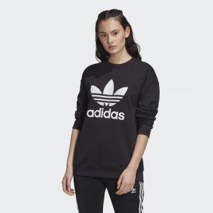 Свитшот Trefoil Originals adidas. Цвет: черный