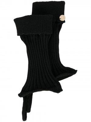 Трикотажные перчатки-митенки Ann Demeulemeester. Цвет: черный