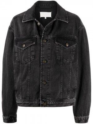 Джинсовая куртка свободного кроя Maison Margiela. Цвет: черный