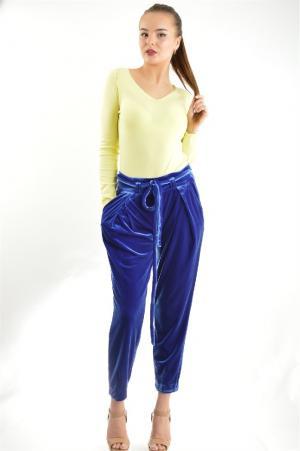 Прямые брюки с карманами BGN. Цвет: синий