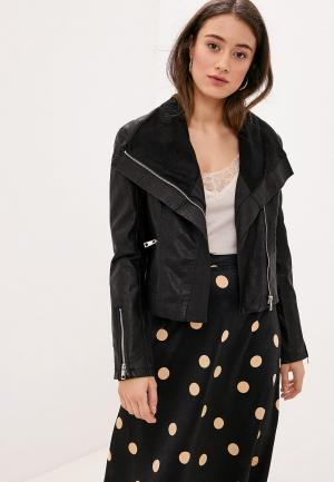 Куртка кожаная Koton. Цвет: черный