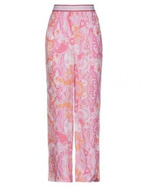 Повседневные брюки LAURÈL. Цвет: розовый